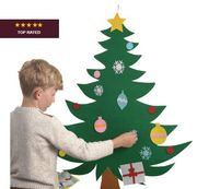PERFECT FOR LITTLE KIDS! *4.8 STARS* Decorate Your Own Felt Christmas Tree Kit
