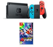 NINTENDO Switch Neon Red & Tennis Aces Bundle Only £289.99