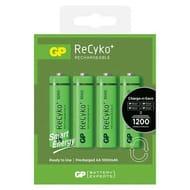 GP ReCyko+ 1000mAh AA Rechargeable Batteries 4 Pack