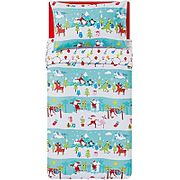 Santa Travels Print Easy Care Reversible Duvet Set