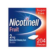 Nicotinell Stop Smoking Aid Nicotine Gum 2 Mg Fruit