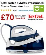 TEFAL Fasteo Steam Generator Iron **4.8 STARS** BETTER than HALF PRICE