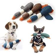 Plush Wild Geese Pet Play Funny Chew Toy Squeaky Sound Toys Chew Toys