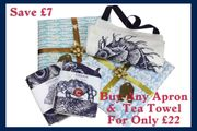 Buy Any Apron and Tea Towel for Only £22