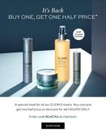 Buy One Get One Half Price on Skincare