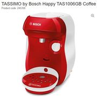 SAVE £70.99. TASSIMO by Bosch Happy TAS1006GB Coffee Machine - Red & White
