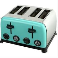 Kitchen Originals by Kalorik 1900W 4 Slice Wide Slot Toaster - Aqua Only £11.99