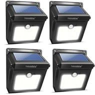 Neloodony Solar Motion Sensor Security Lights 28 LED Waterproof 4 Pack