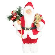Christmas Standing Santa Claus with Gifts Holiday Stuffed Dolls