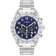 Citizen Blue Dial Chronograph Stainless Steel Bracelet Mens Watch