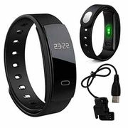 Bluetooth Fitness Tracker Smart Watch Black