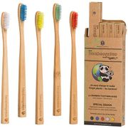 Stocking Filler -X10 Available - PREMIUM Bamboo Toothbrush 5 Pack *Price Glitch*