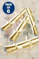 6 Embossed Foil Christmas Crackers
