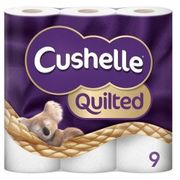 Poundshop.com - Pack of 9 Cushelle Toilet Rolls - Only £1.00