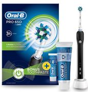 Oral-B Pro 650 Electric Black Toothbrush and Toothpaste 75ml