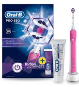 Oral-B Pro 650 Electric Pink Toothbrush and Toothpaste 75ml