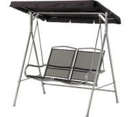 Malibu 2 Seater Garden Swing Chair - Black Only £79.99