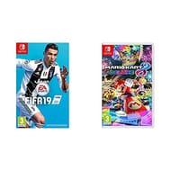 Nintendo Switch Fifa 19 and Mario Kart Deluxe £65 Amazon