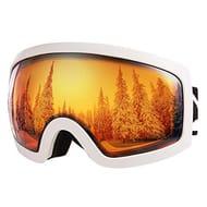 BFULL Men,Women and Kids OTG Ski Goggles, Anti-Fog, Windproof
