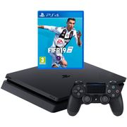 PlayStation 4 500GB Console with FIFA 19 - Black