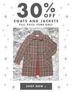 30% off Full Price Coats & Jackets