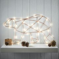 Christmas Warm White LED Copper Polar Bear Decoration