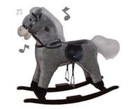 Cuddles Collection Large Rocking Horse - Grey