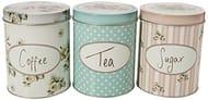 Katie Alice Cottage Flower Large Coffee, Sugar & Tea Storage Tins