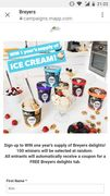 Free Ice Cream 500ml Tub
