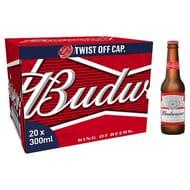 Budweiser 20X300ml Bottle for 10