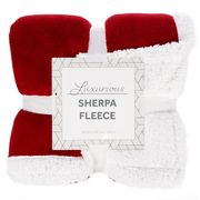 Robert Dyas Sherpa Riva Throw - Red £8.49 with Code