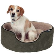 RSPCA Quilted Oval Foam Bed - Beige