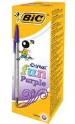 BIC Cristal Fun Ballpoint Pens Wide Point (1.6 Mm) - Box of 20 Only £3.02