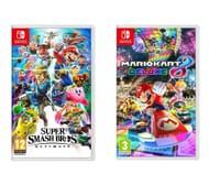 NINTENDO SWITCH Super Smash Bros. Ultimate & Mario Kart 8 Deluxe Bundle