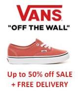 VANS - Half Price Sale & Free Delivery on ALL ORDERS