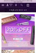 20% off All Items at Urban Decay (Excluding Vaults)