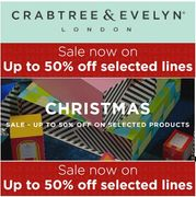 Crabtree & Evelyn's SALE HAS STARTED! up to 50% off now...