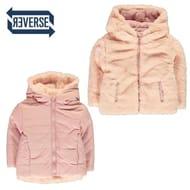 Girls Pink Reversible Faux Fur Jacket, Age 6-7