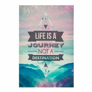 Journey Typography Framed Print - Blue
