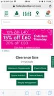 Holland & Barrett Clearance Sale. Code stack