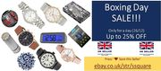 Boxing Day Sale 20% off on Men's, Women's & Kids Watches & Alarm Clocks