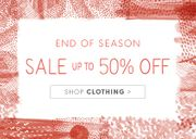 Up to 50% off in SEASALT's End of Season Sale