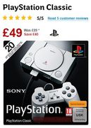 PlayStation Classic Console WAS £89 NOW £49 save £40 (20 GAMES INCLUDED)