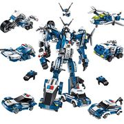 506 Pcs Transformer Robot Car Building Blocks Toy Set Gift for Kids Boys