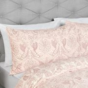 KING SIZE Laura Ashley Felicity Printed Blush Bedset WAS £80 Now £24