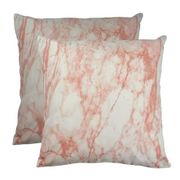 Pack of 2 Blush Marble Cushion Covers