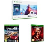 MICROSOFT Xbox One S, Battlefield V, Tekken 7 & Project Cars 2 Bundle