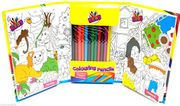 Travel Colouring Set Childrens Colouring Book Set + 12 Colouring Pencils Art Set