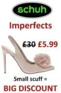 Schuh Imperfects. Where Small Scuff = BIG DISCOUNT!