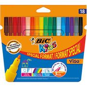 """BIC Kids Visa Colouring Pens - Pack of 18 (15 plus 3) """"""""ADD ON"""""""""""